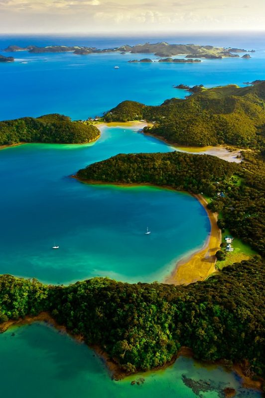 Bay of Islands in New-Zealand